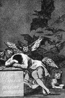 Francisco de Goya: The Sleep of Reason brings forth Monsters
